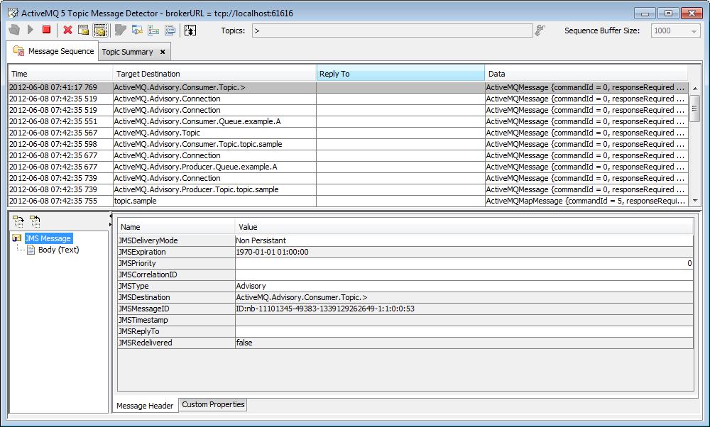 Openshere Message Detector 64-bit full screenshot